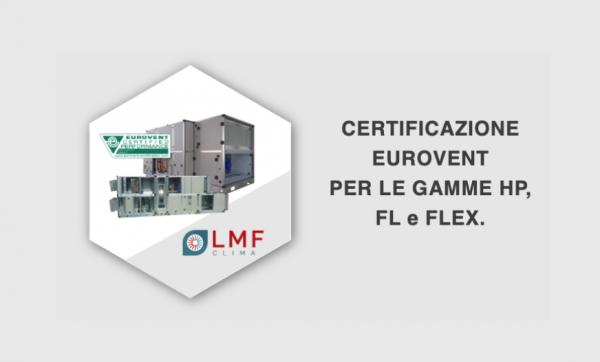 31/08/2020 - LMF CLIMA - Ferraro Group - Certificazione Eurovent