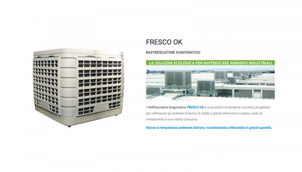 08/06/2020 - Ricambi aria negli ambienti produttivi grazie al Raffrescatore Evaporativo FRESCO OK di Systema