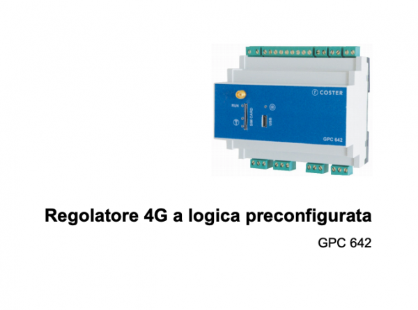 02/08/2021 - Coster Group SRL - Nuovo Regolatore Compatto GPC 642