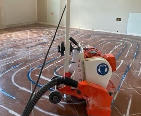 24/09/2021 - HUDINI sistema radiante fresato a pavimento a zero spessore - NEW HEATING