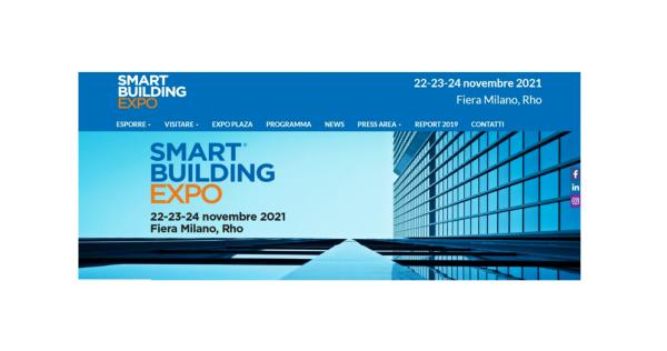 11/10/2021 - SMART BUILDING EXPO Fiera Milano 22-24 Novembre 2021